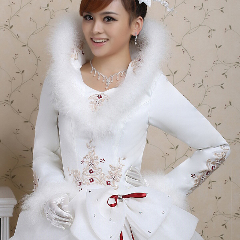 fluffy wedding dress