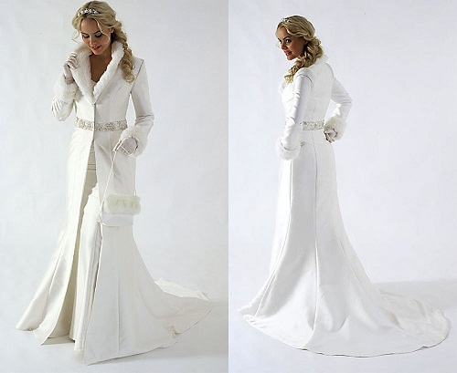 jacket wedding dress